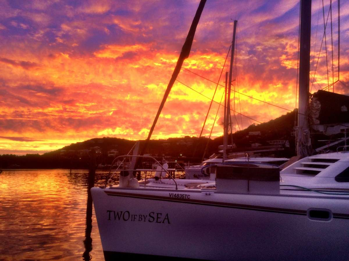 Sundown in the Virgin Islands