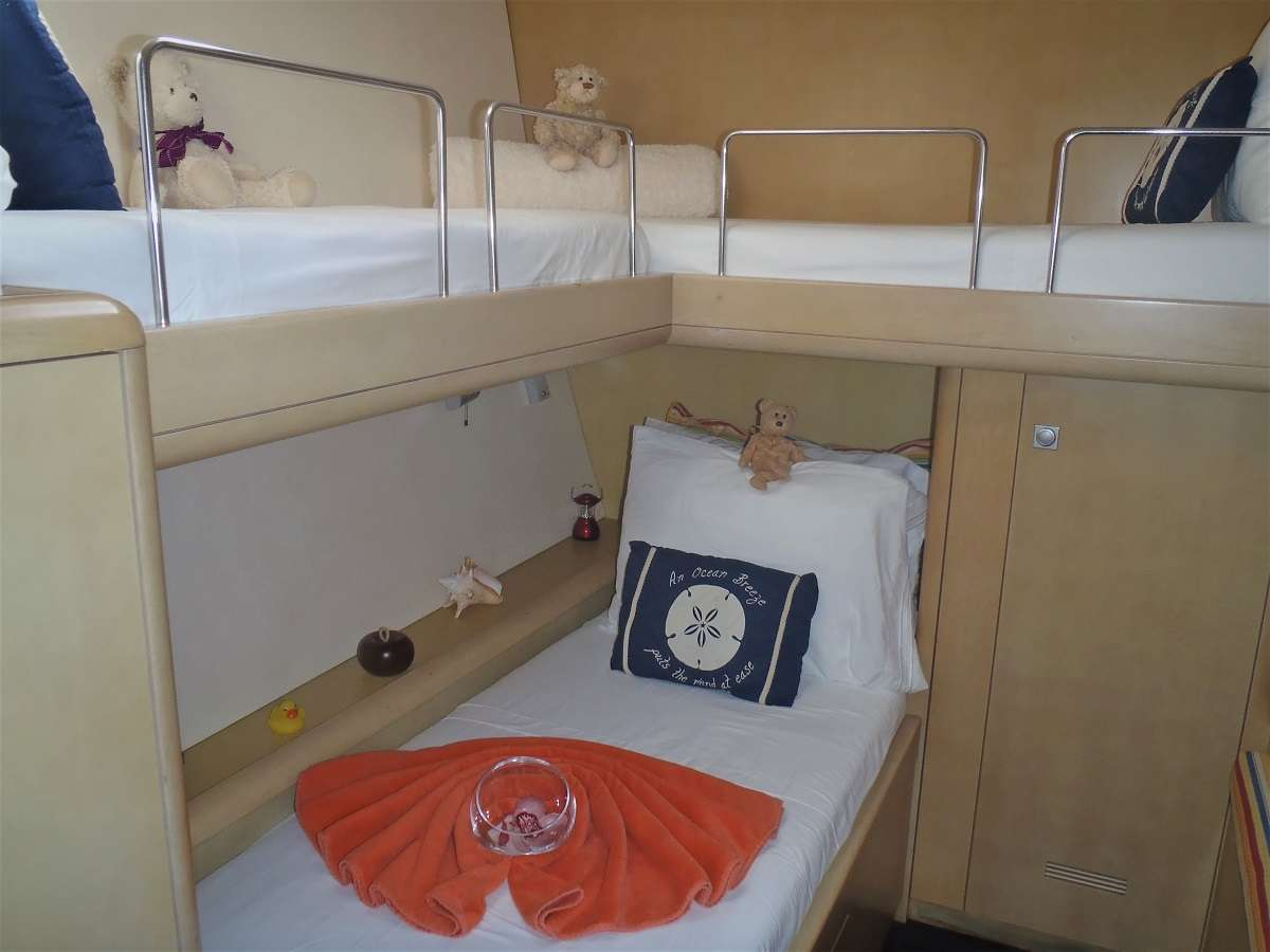 Guest cabin #3 Optional bunk stateroom for 2 kids (starboard, center)