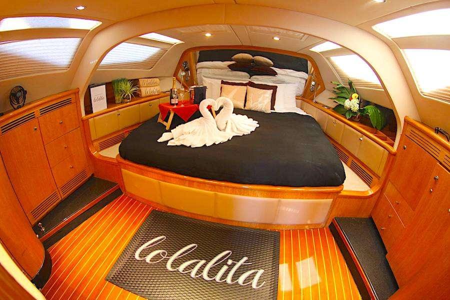 Lolalita under full sail in the British Virgin Islands.