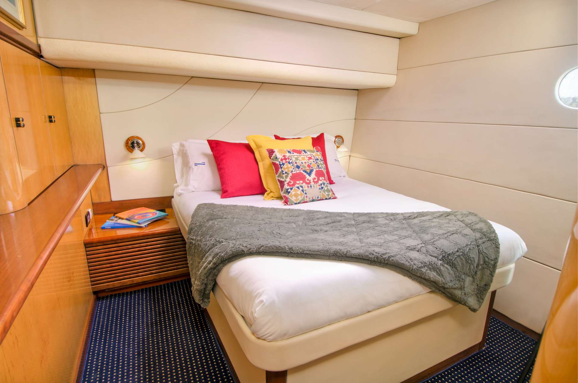 Another aft guest queen berth suite