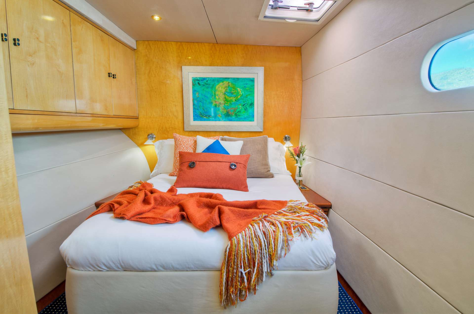 The forward queen berth guest suite