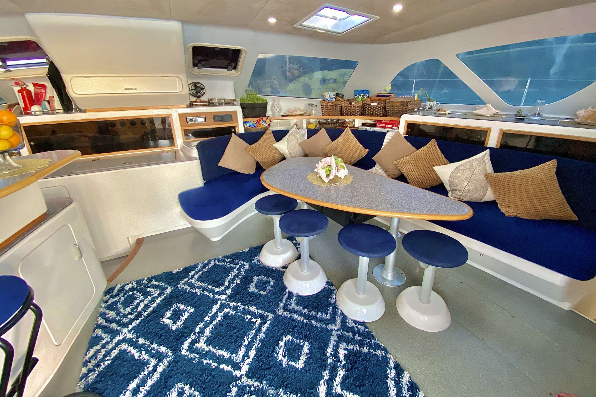 Salon seating area
