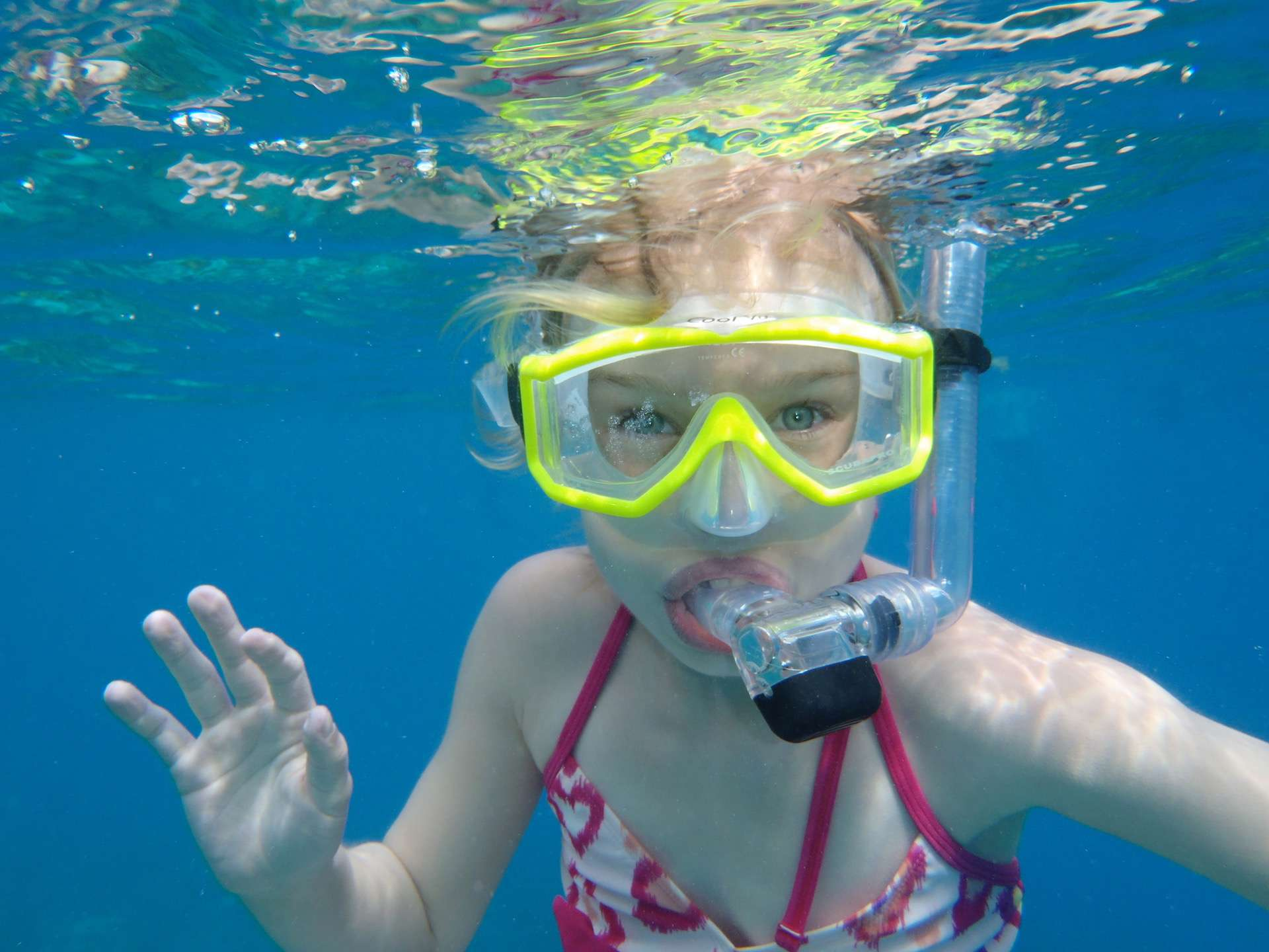 Snorkelling we provide the gear