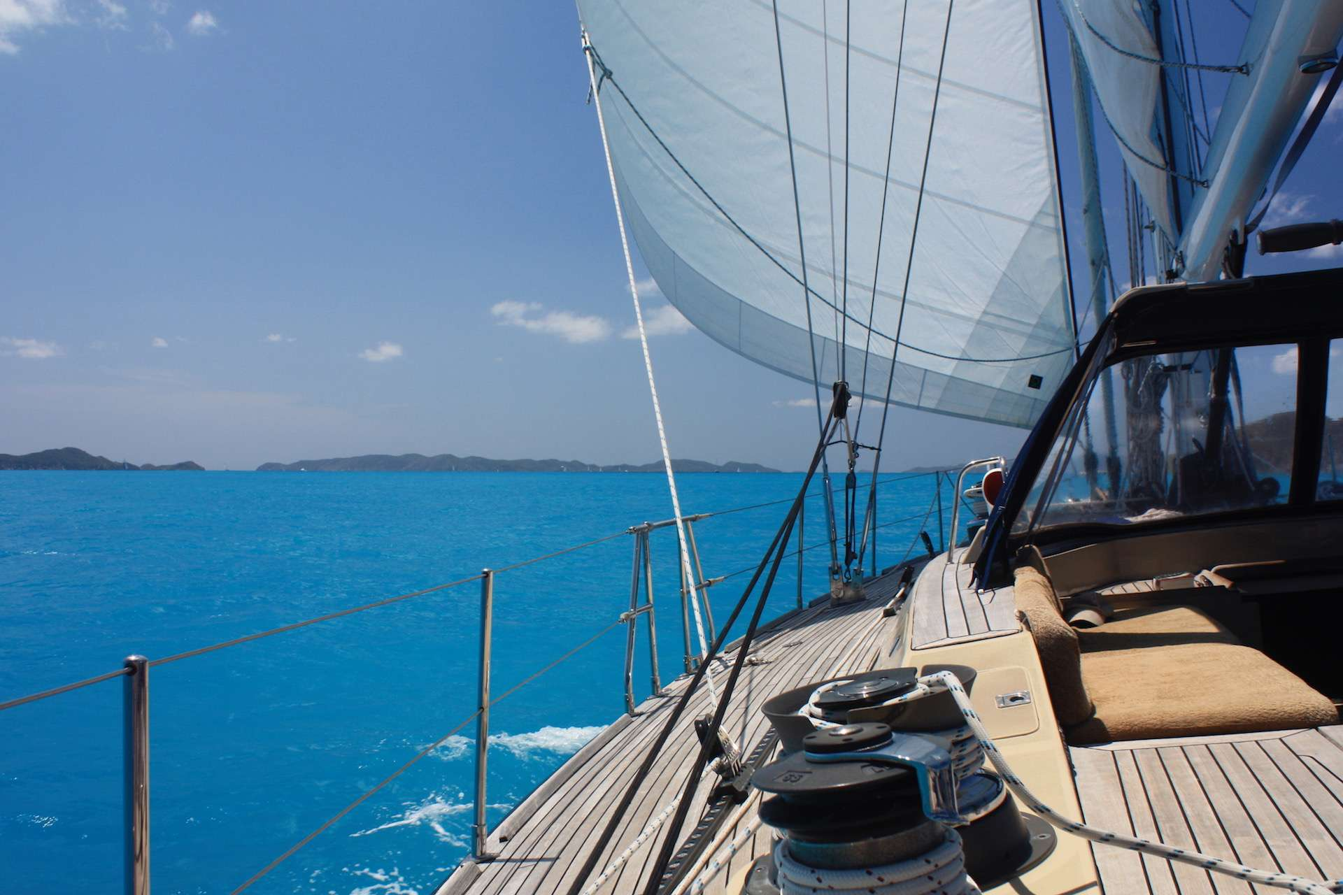 Sailing down the Sir Francis Drake Channel BVI