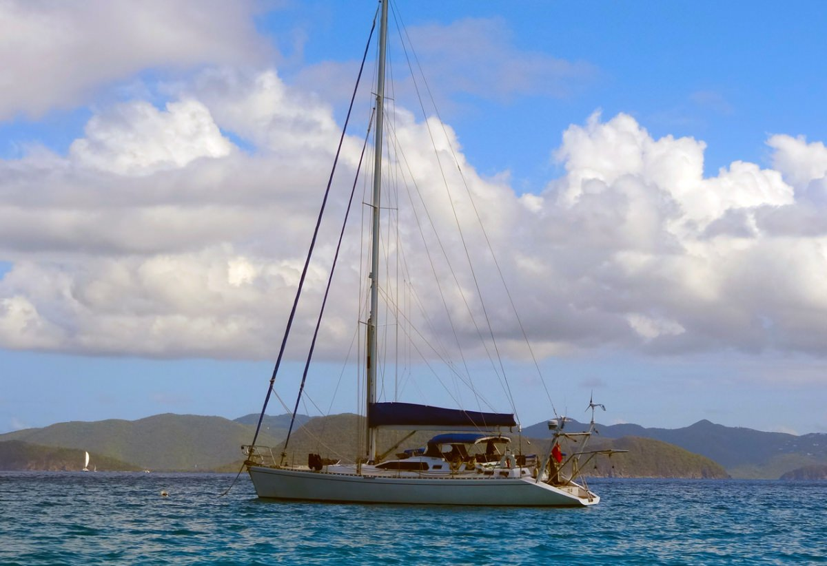 Anchored out in the BVI