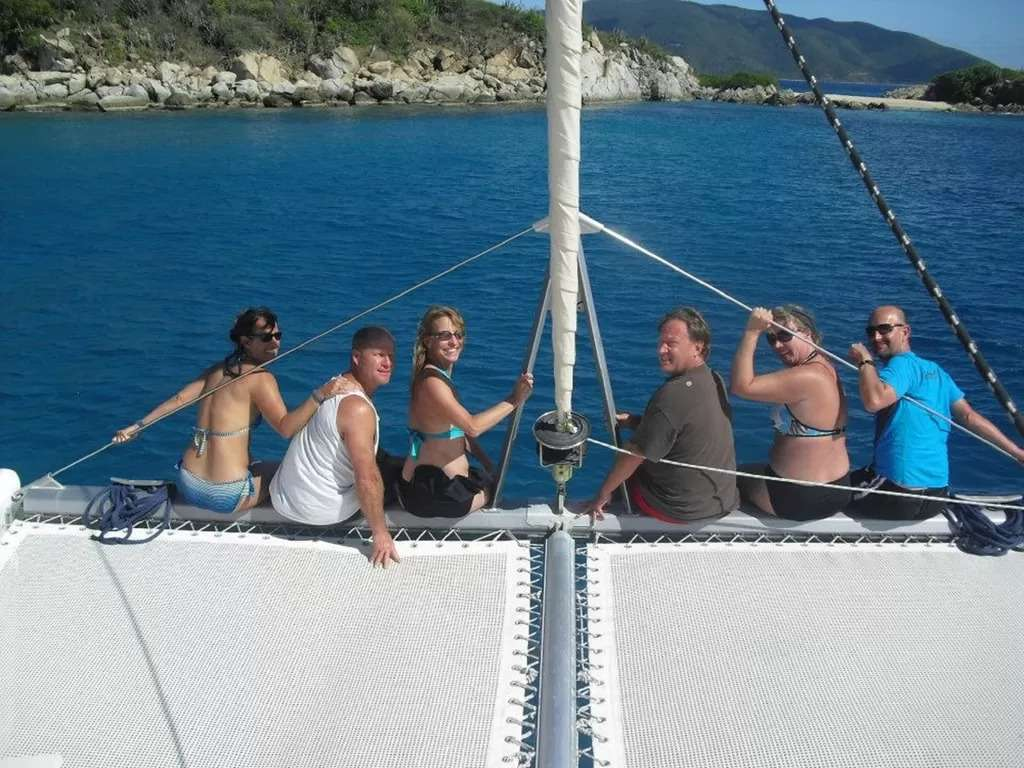 Foredeck and the trampoline