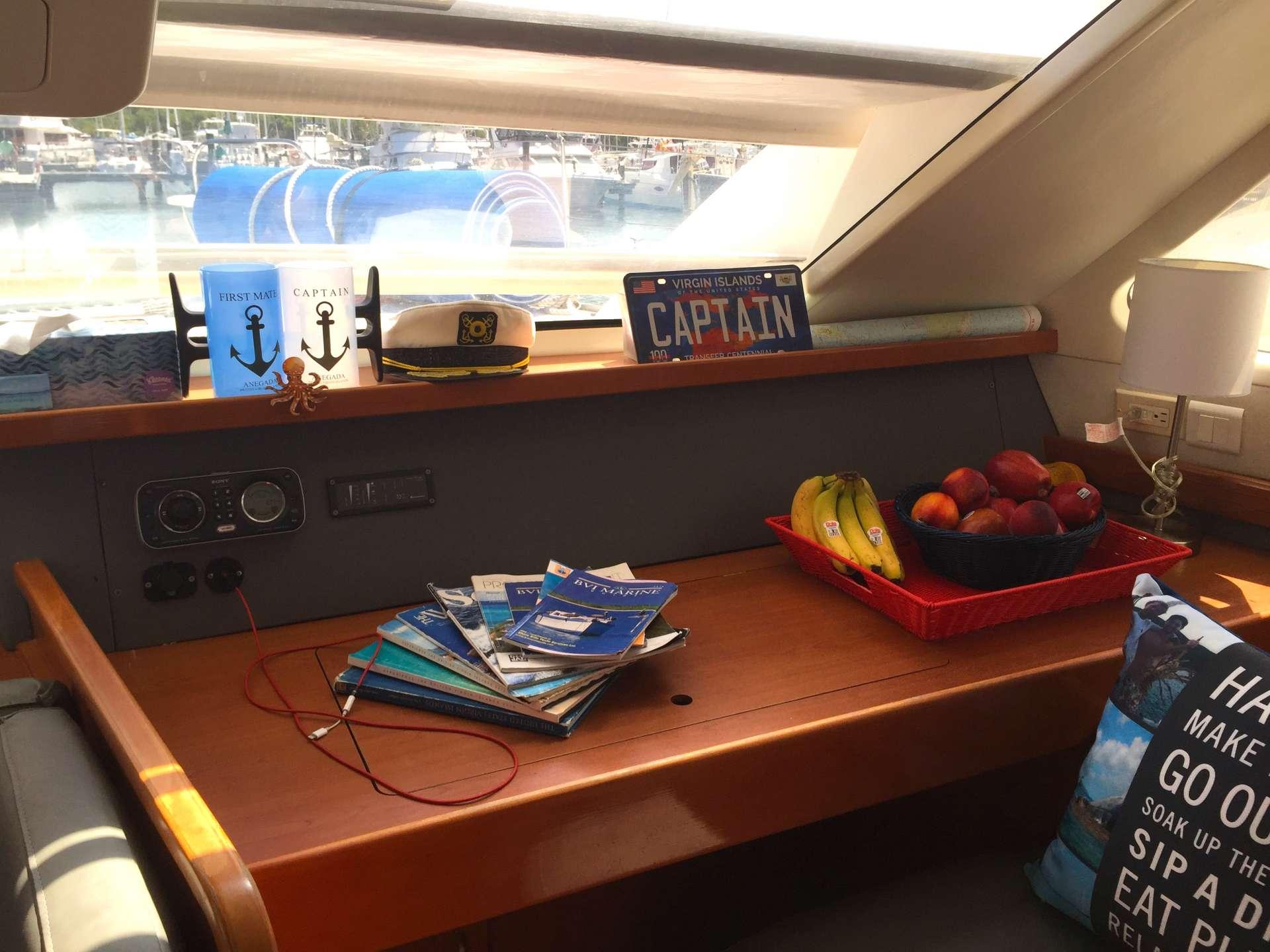 The Nav station - ready for charter!