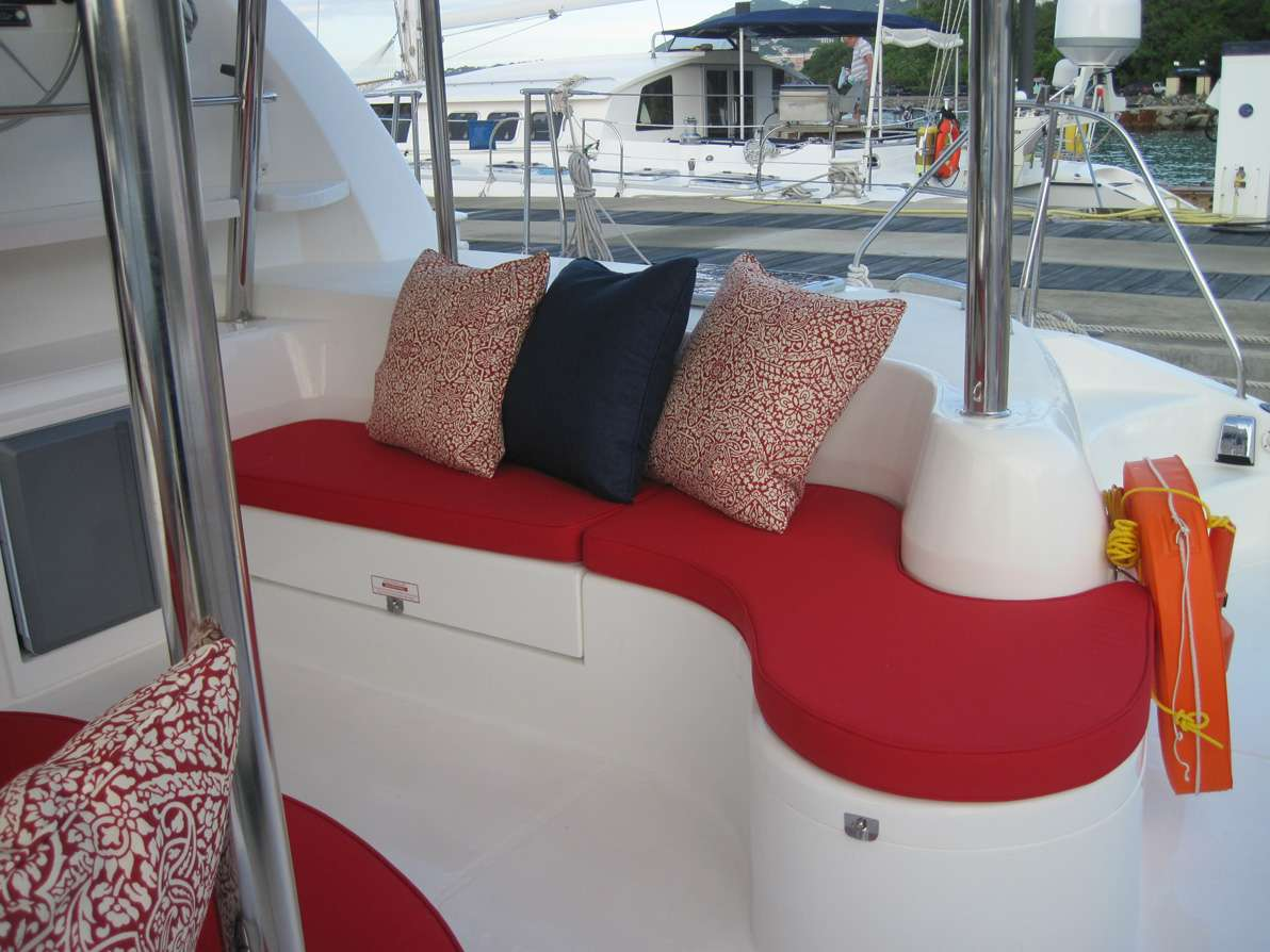 Additional seating in the big aft lounge.