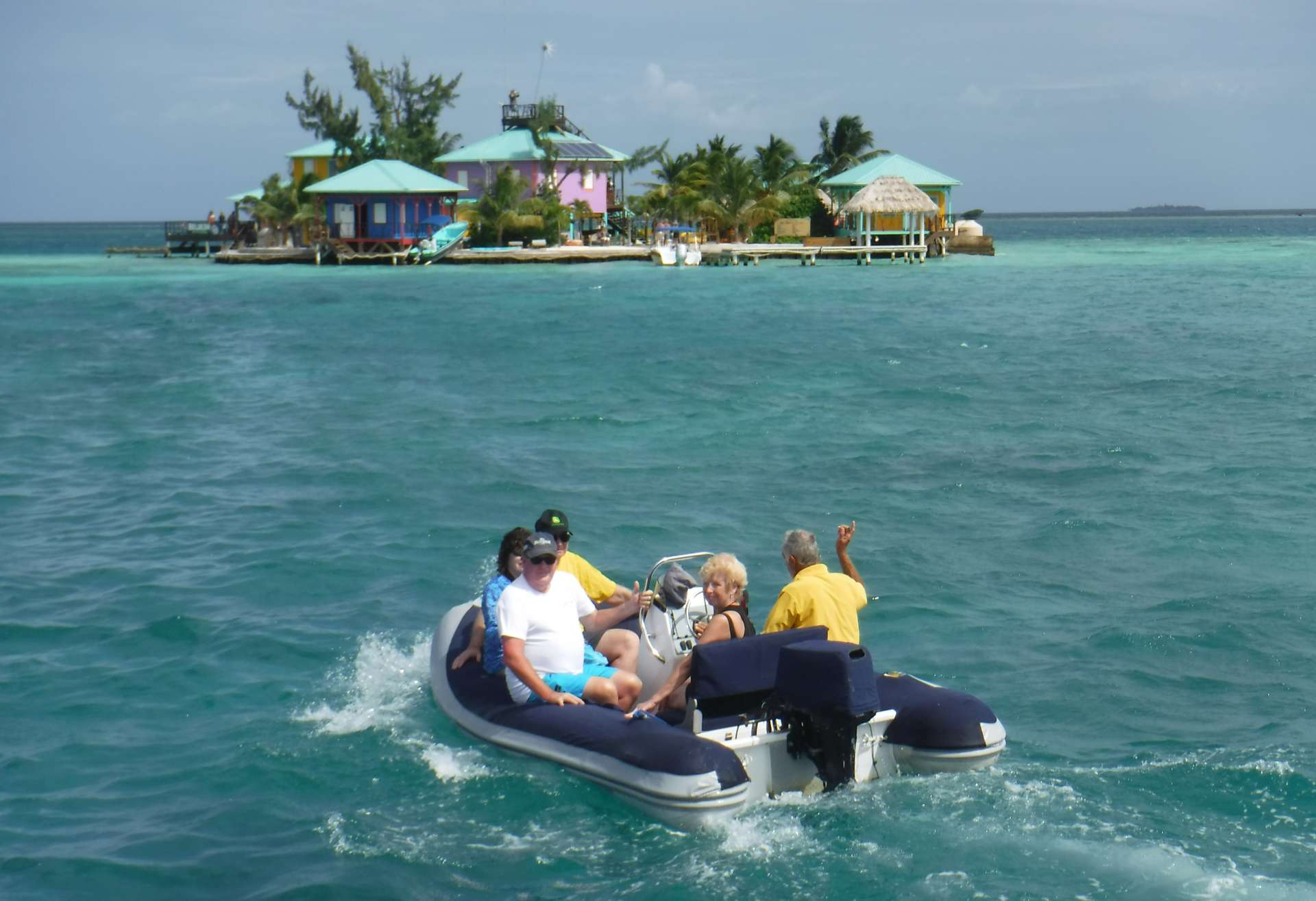 Dinghy at King Lewey Caye