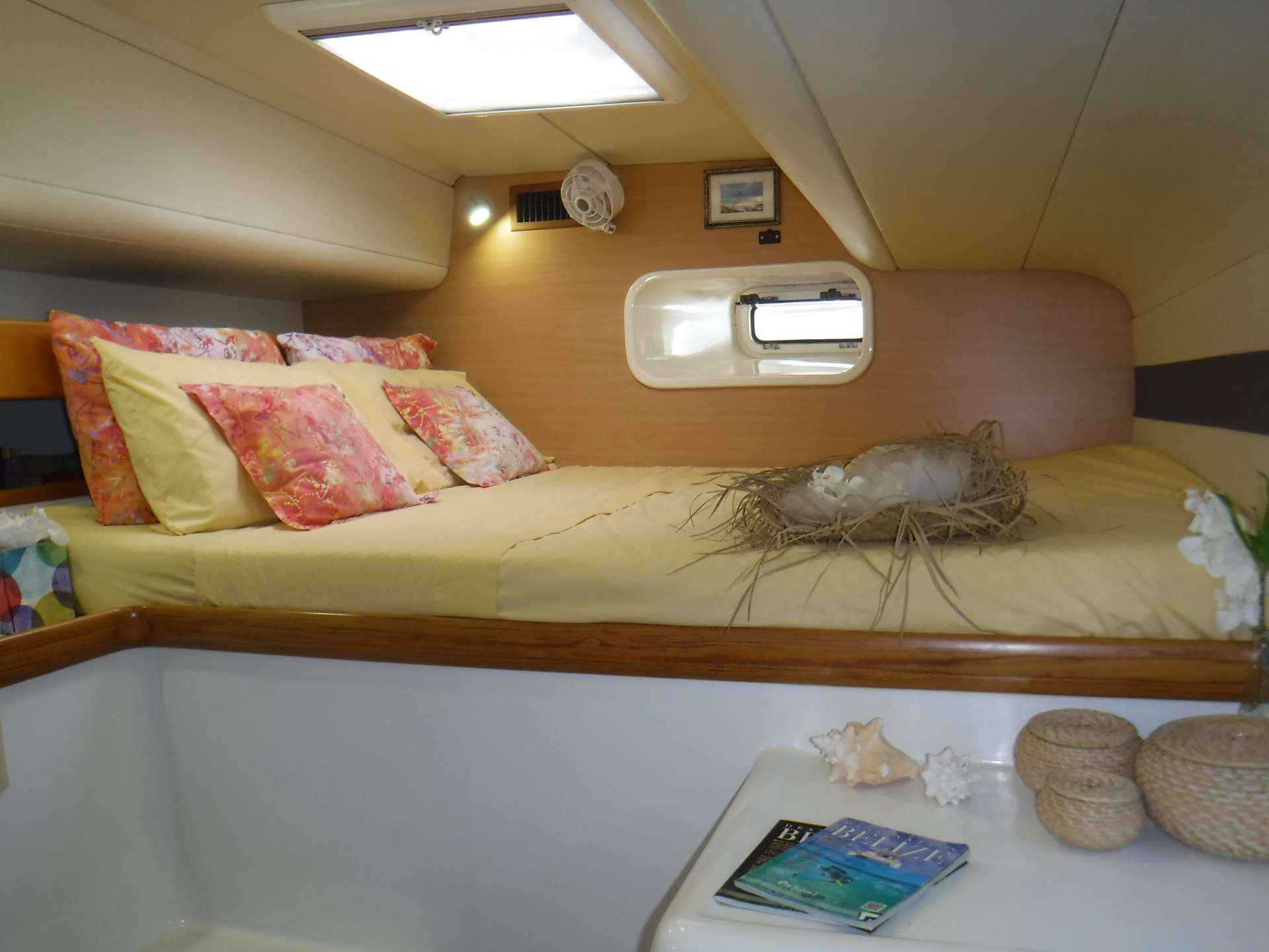 Guest cabin #1 with queen berth
