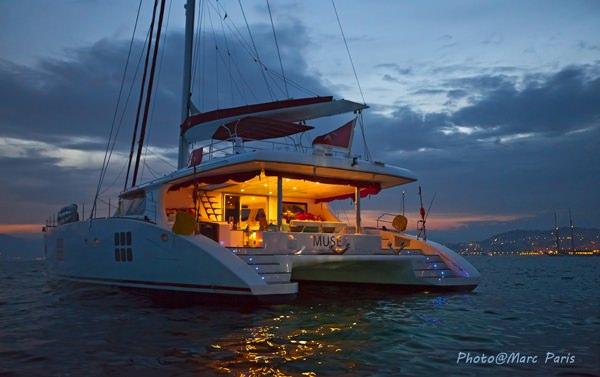 Night at anchor