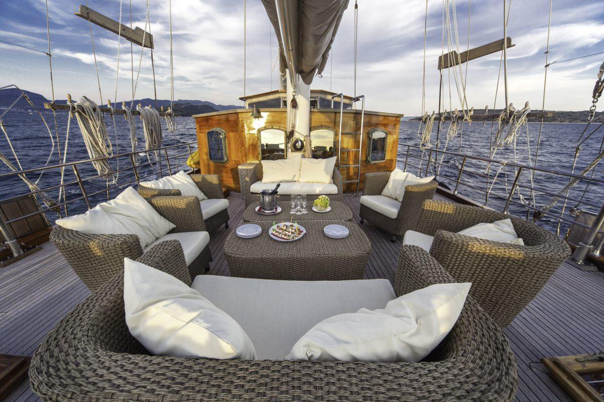 Libra - deck view toward bow