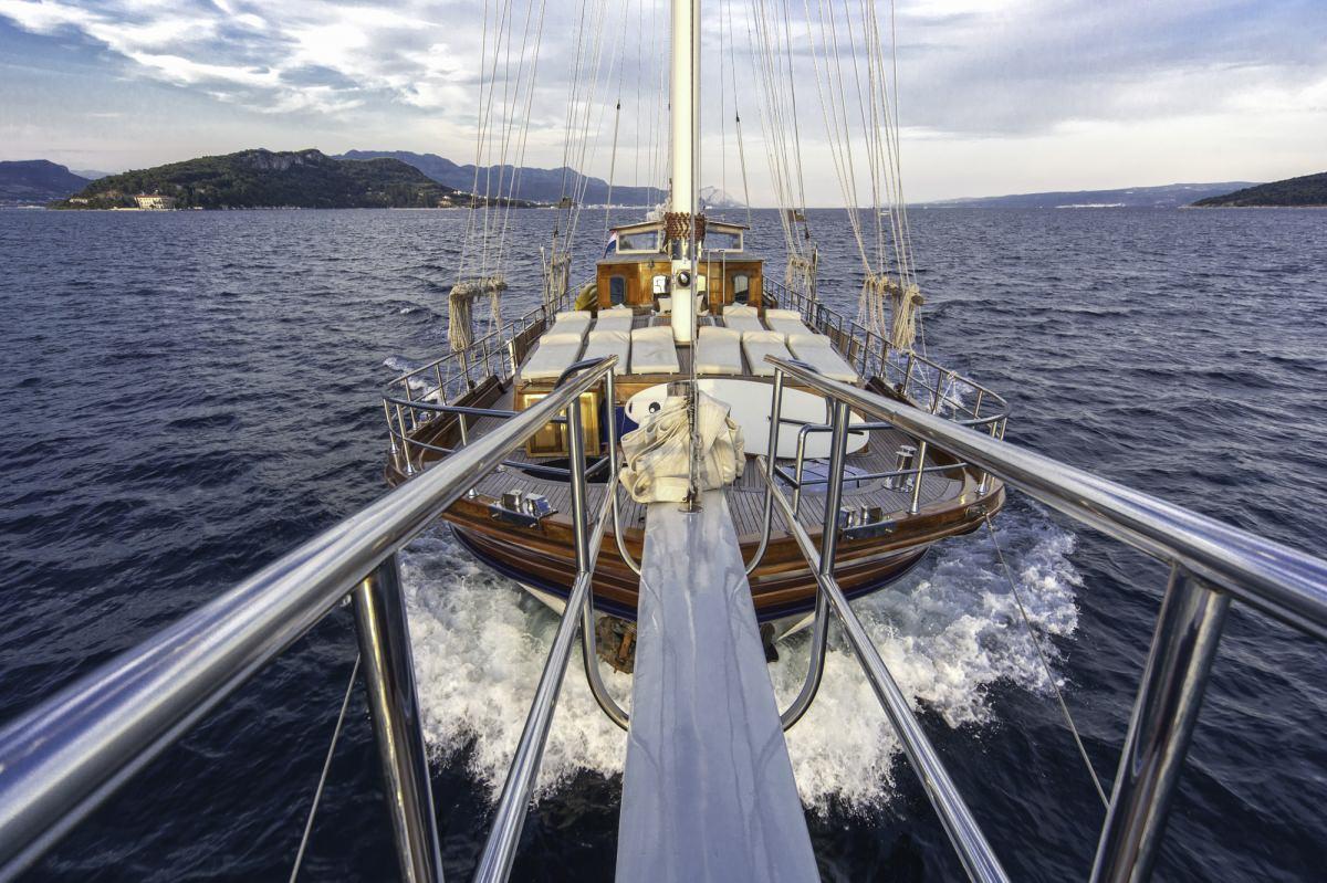 Libra - deck view toward aft