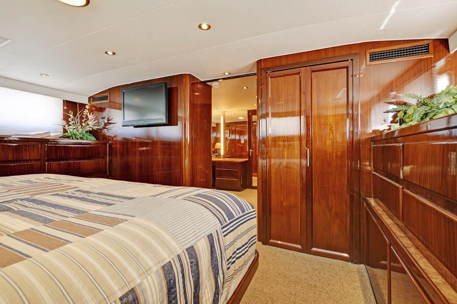 Master Stateroom looking to Dressing Room/Office.