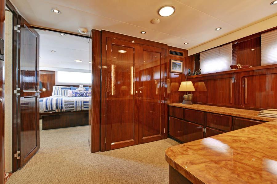 Private Dressing Room/Office adjacent to Master Stateroom.