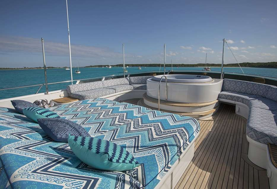 Sun Deck with Jacuzzi and optional sun shades