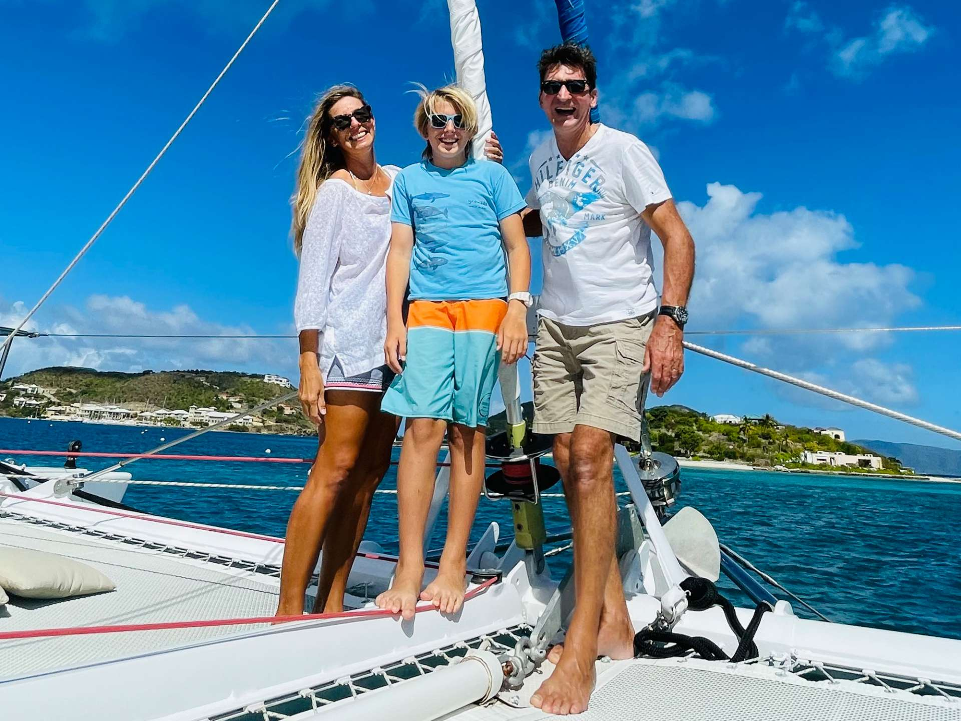 "Charly & Carolina  Captain & Chef & ""occasional"" Mate Valentin"
