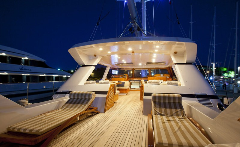 Aft Deck by Night