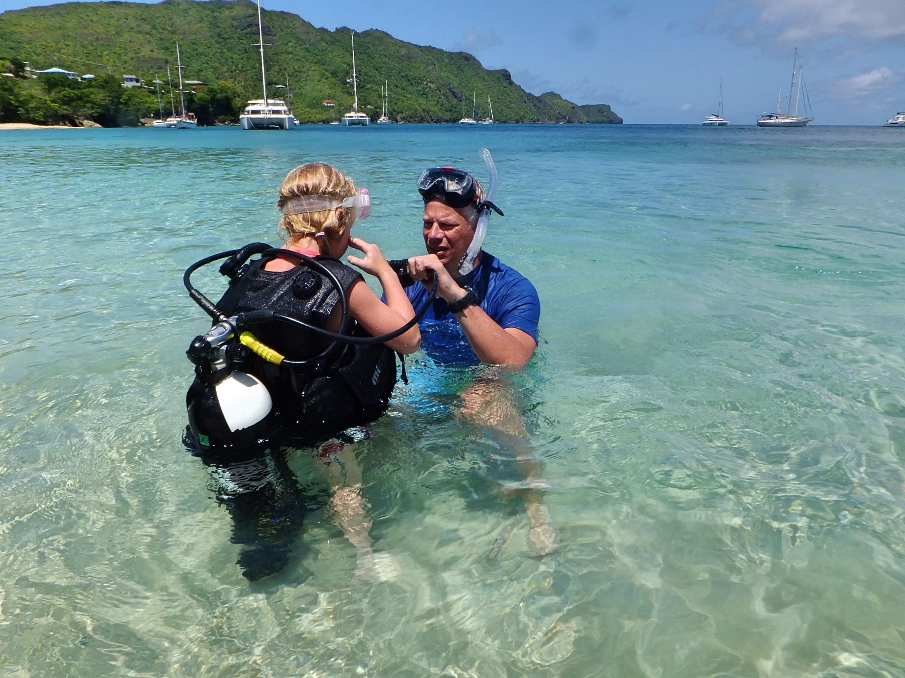 First time SCUBA