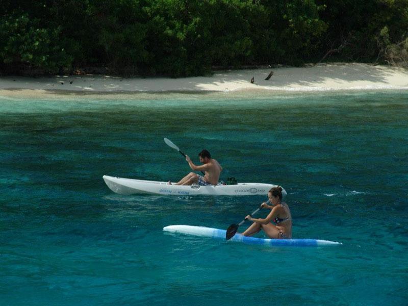 Two kayaks for exploring