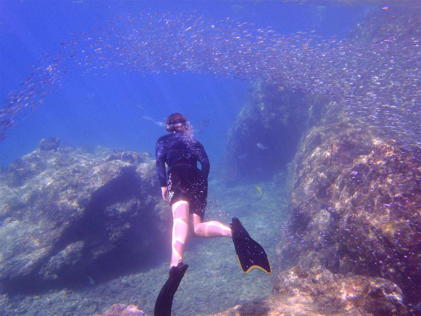 Snorkeling the Caves