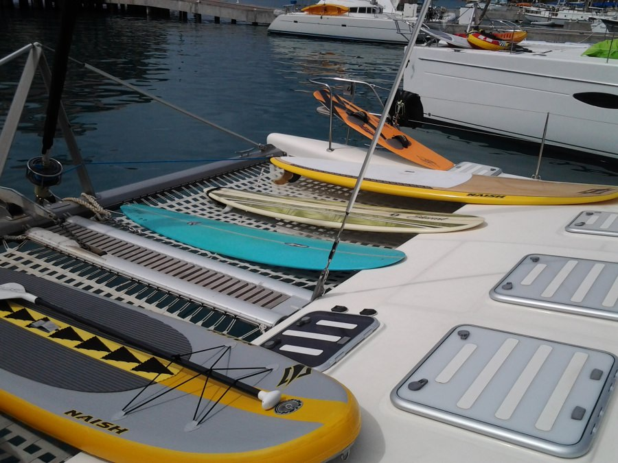 This boat is all about fun on the water!