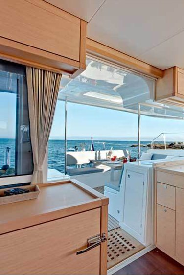 The main saloon is spacious and offers panoramic view.