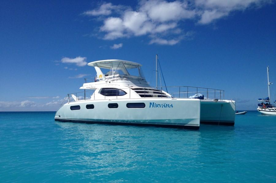 Nirvana at Anchor in Caribbean Sea
