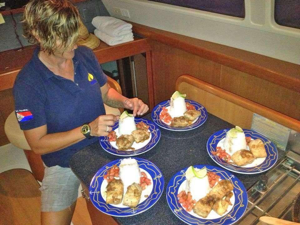 Alexandra Preparing a tasty lunch