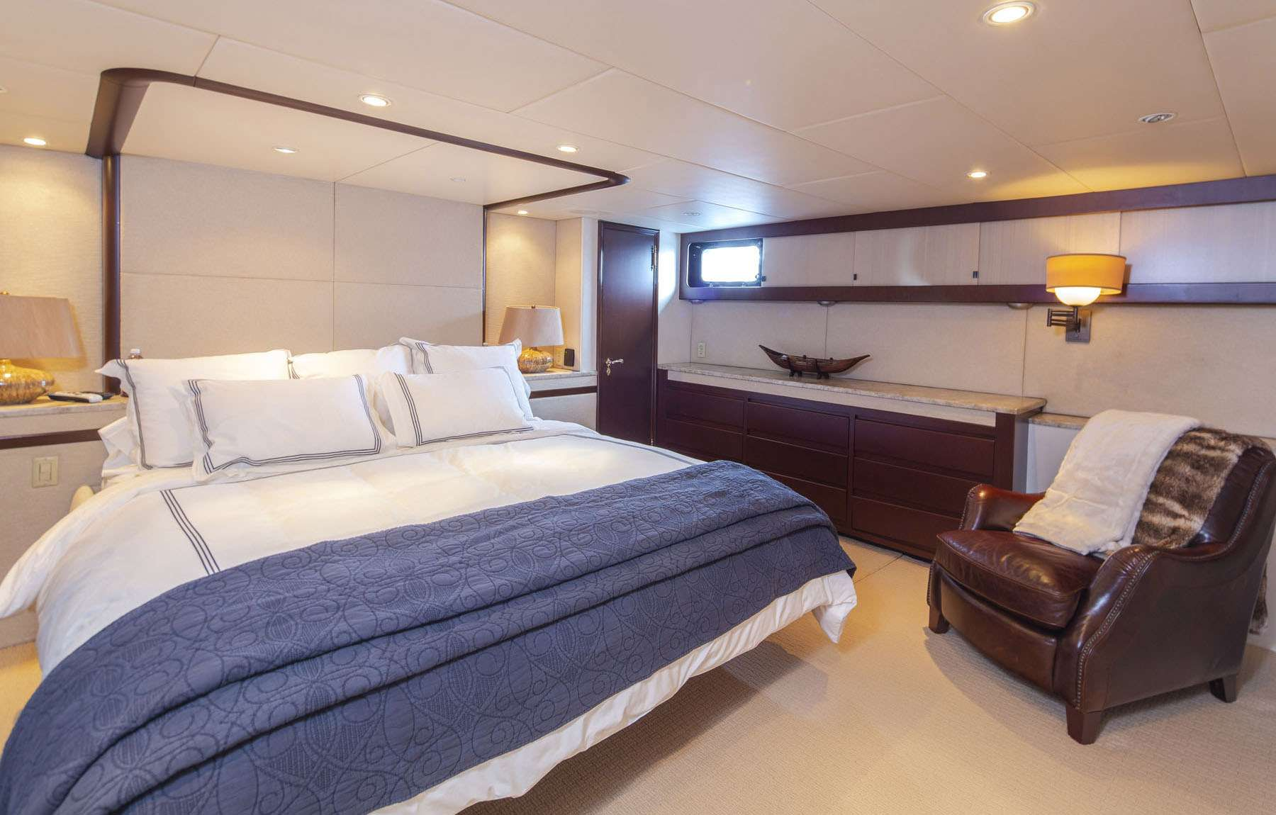 Master Stateroom with King Bed.