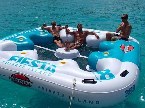 The floating Island is where the party starts!