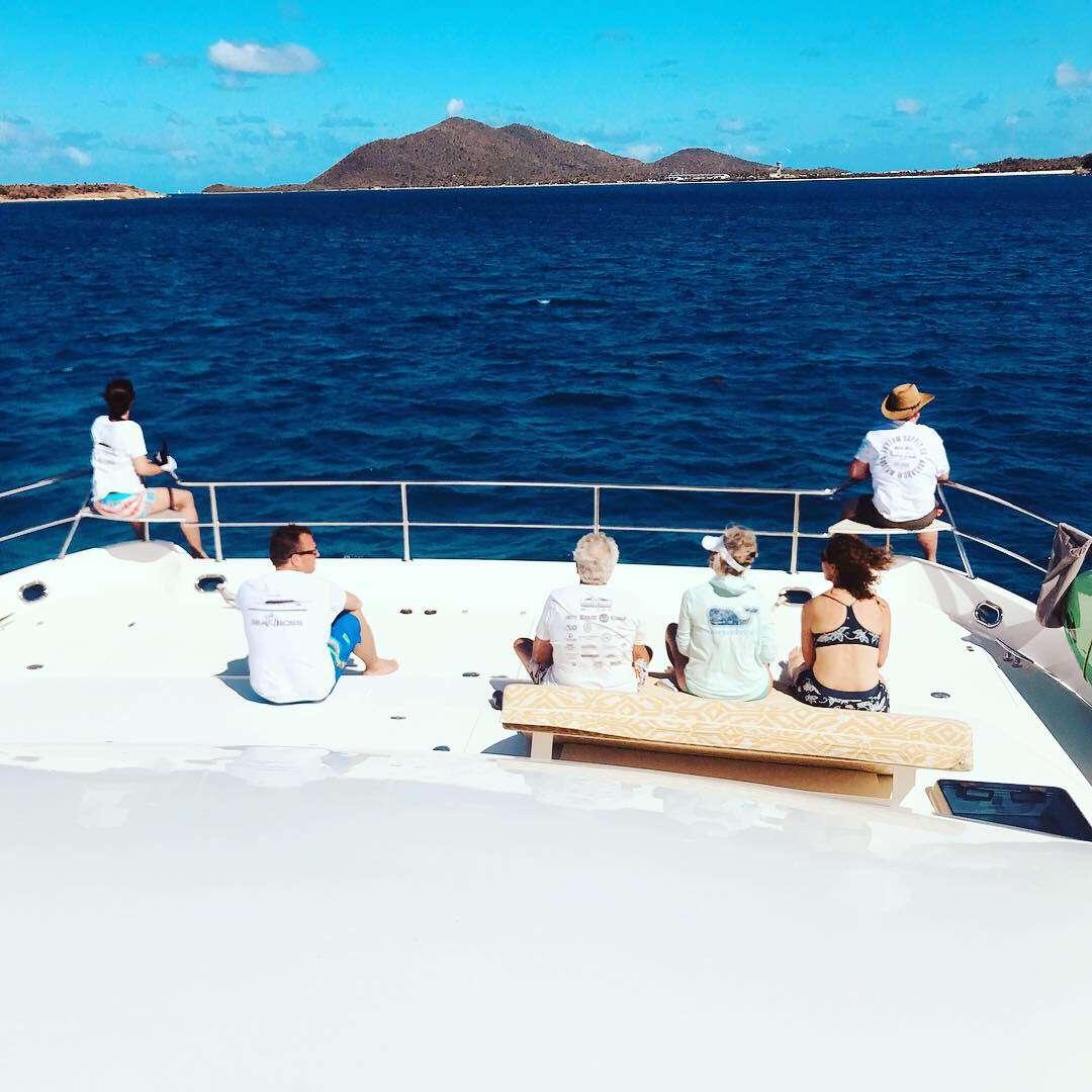 Sunning on the bow