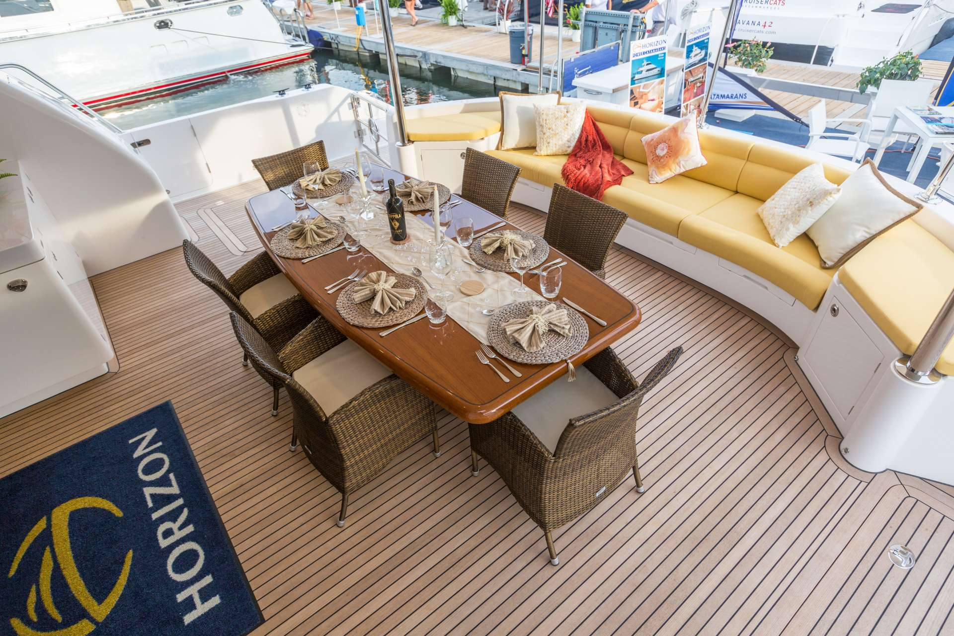 Aft Deck and Dining Area
