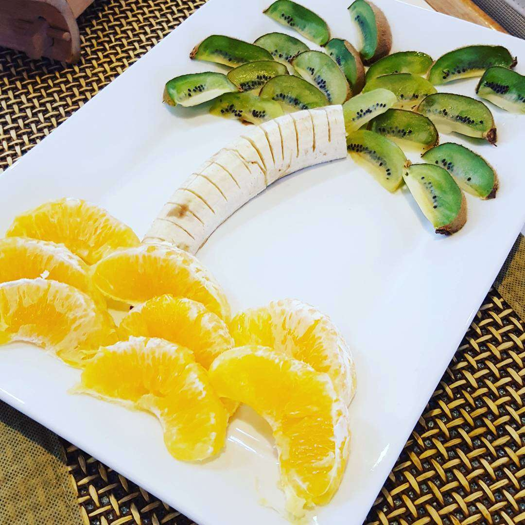 A morning fruit plate from the chef!