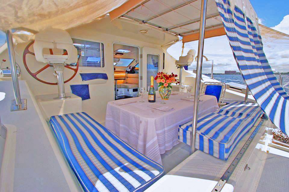 Dining on Aft Deck