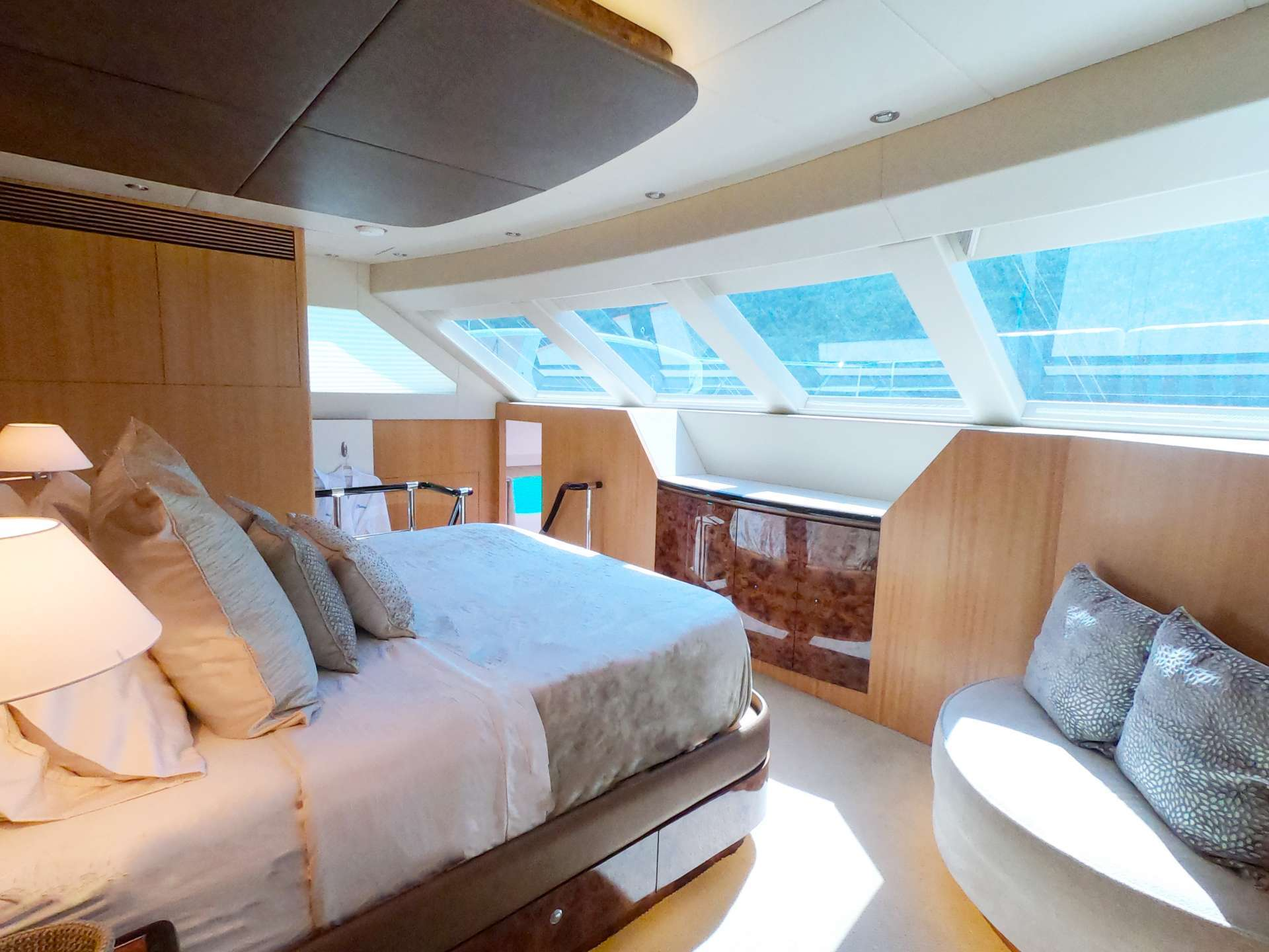 Aft deck lounging and dining area