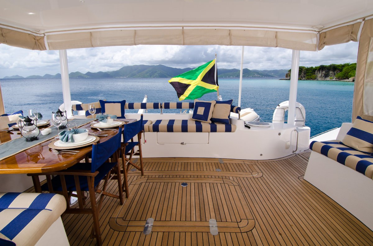 Spacious and comfortable aft deck