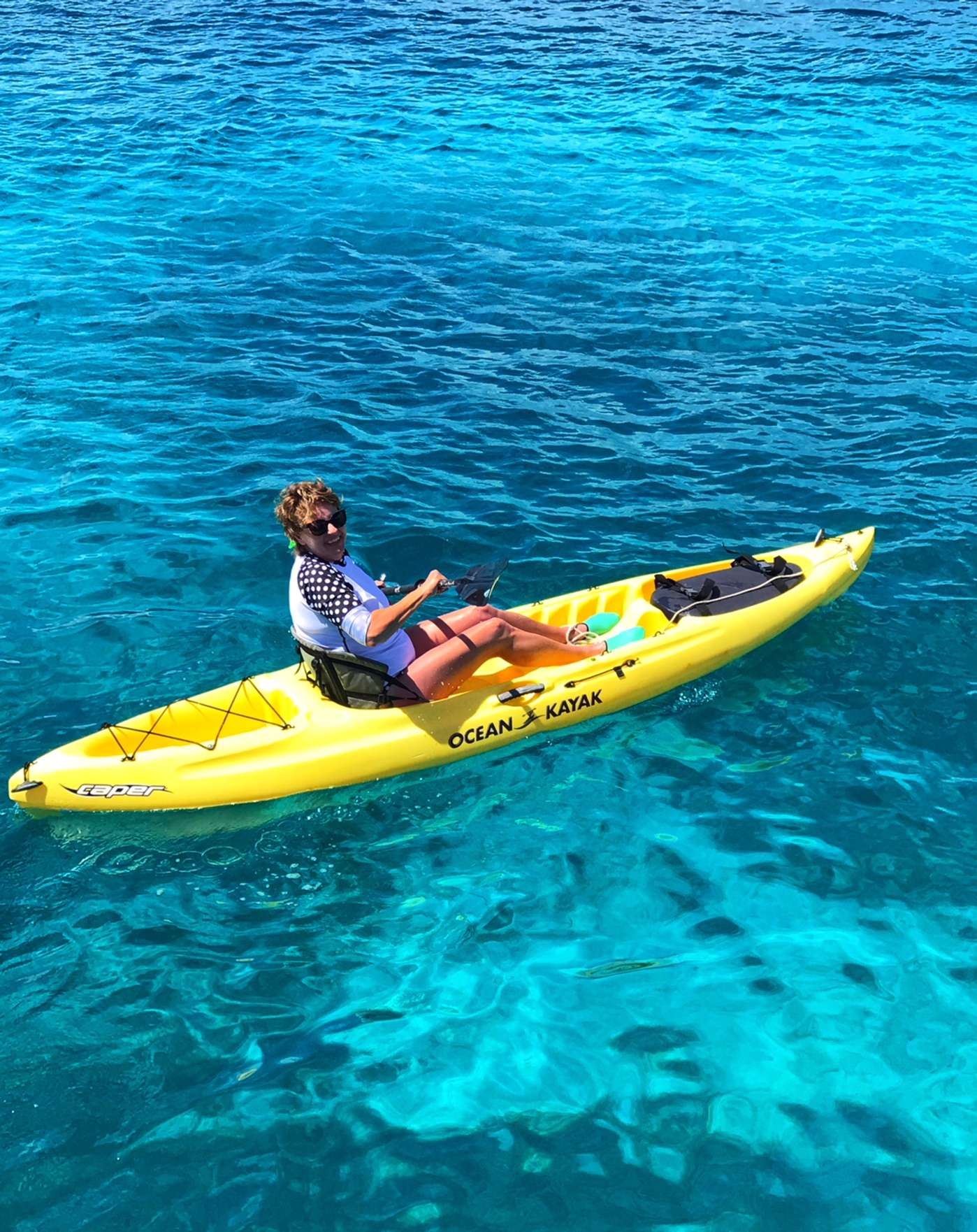 Kayaking through turquoise blue waters in search of sea turtles off St. John.  Does it get any better?