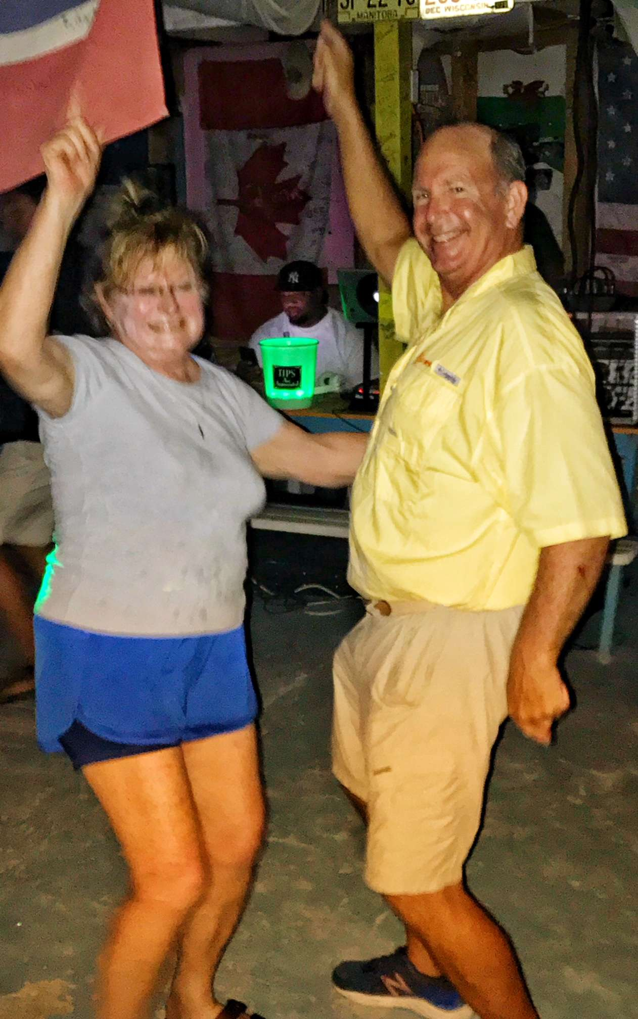 Sam and one of our fun guests showing off their moves!