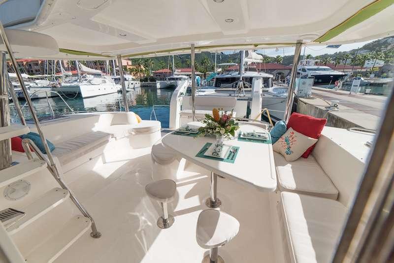 Catamaran Charter Knot Anchored