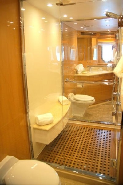 Perfect sense yacht charter motor boat ritzy charters for Perfect master bathroom
