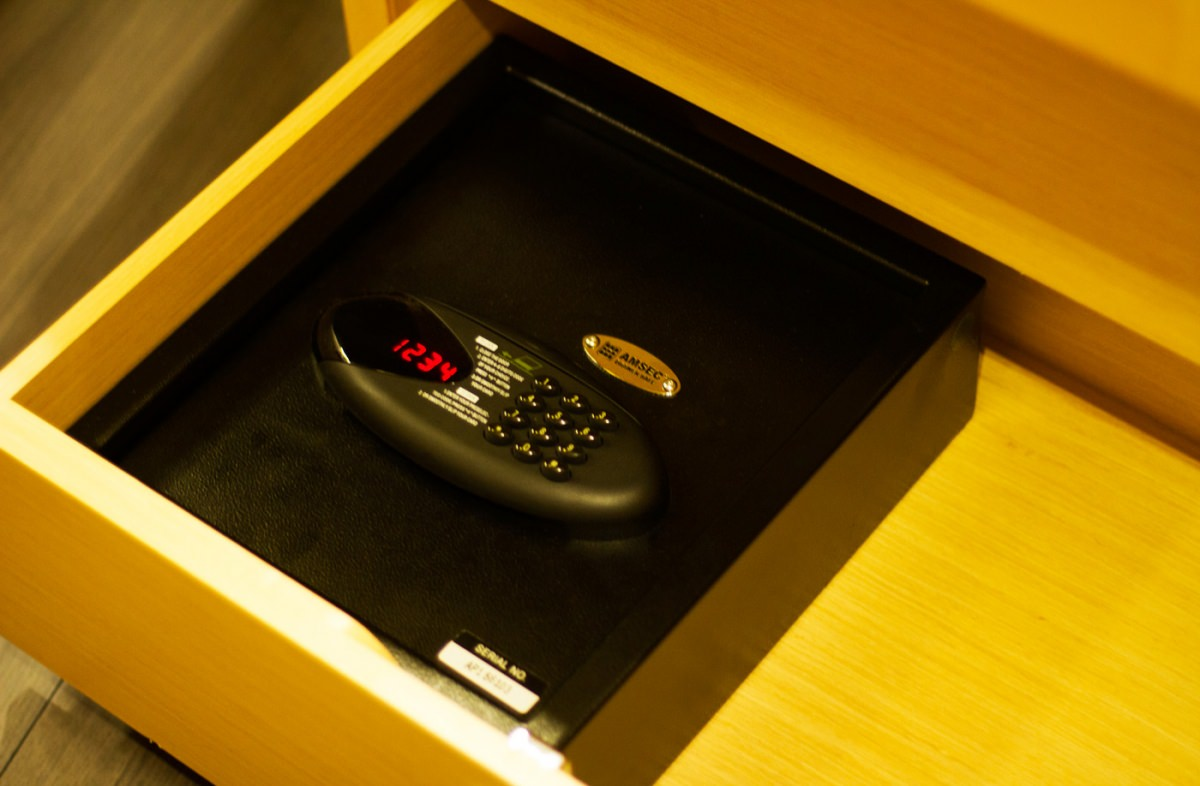Safes in each guest cabin