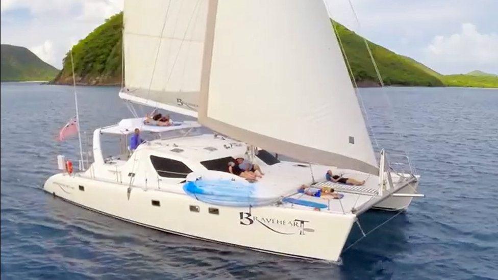 Braveheart under sail