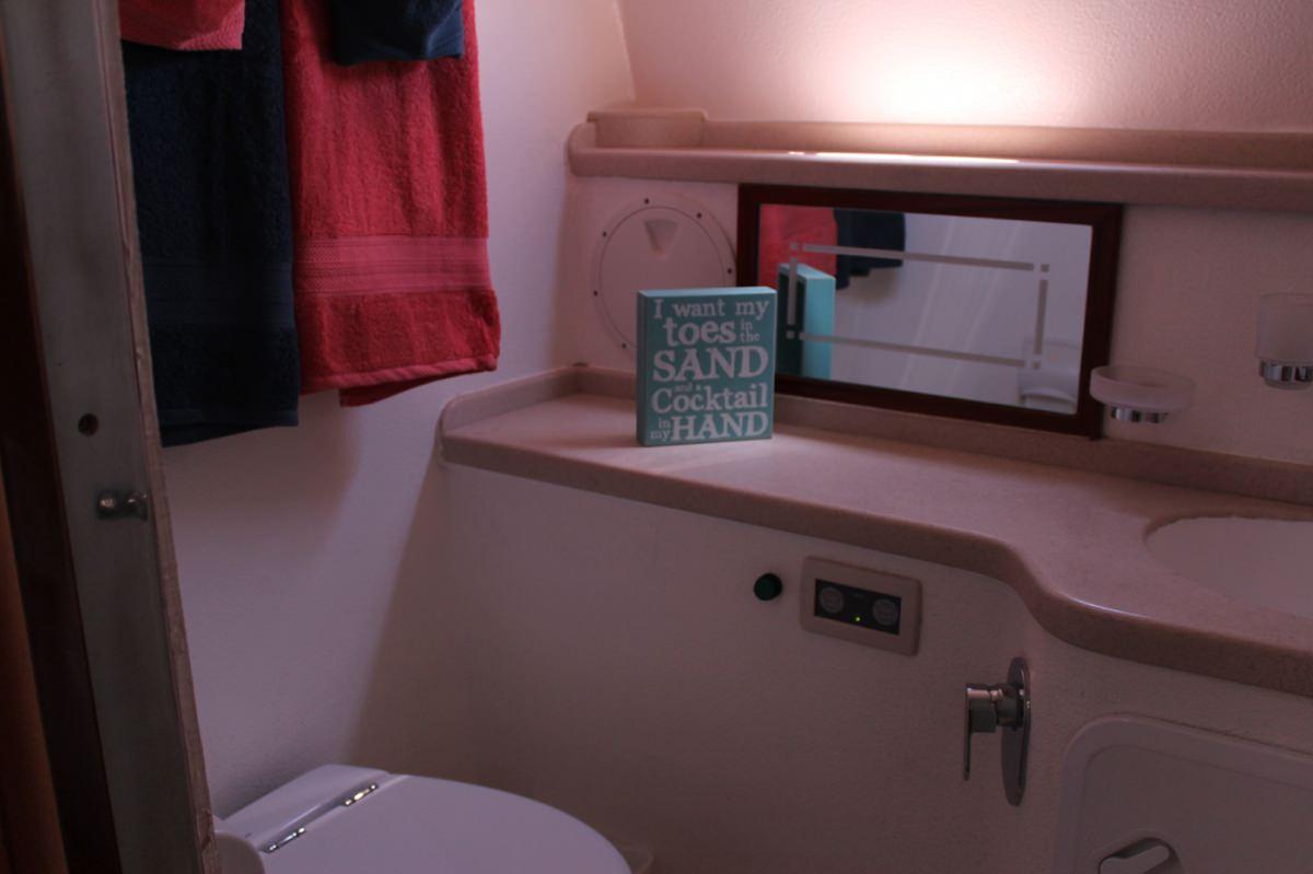Private bath for each cabin