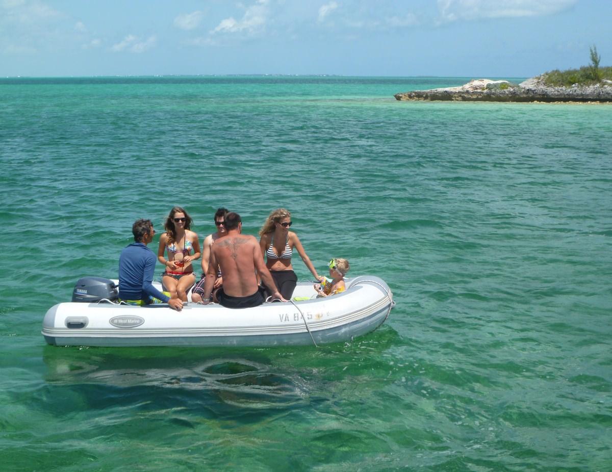 dinghy to the beach!