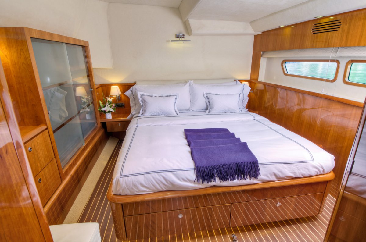 One of 3 queen guest cabins