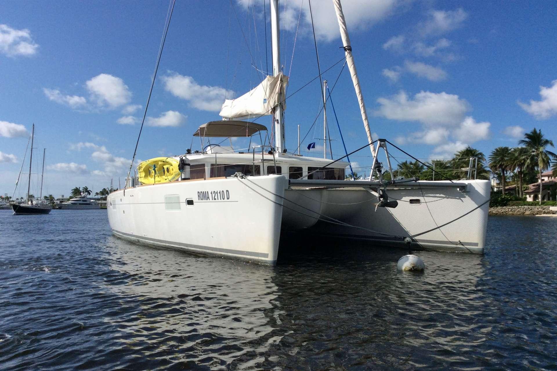 Delicia at anchor