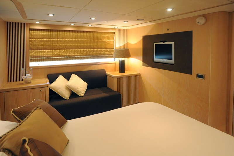 Master cabin with TV