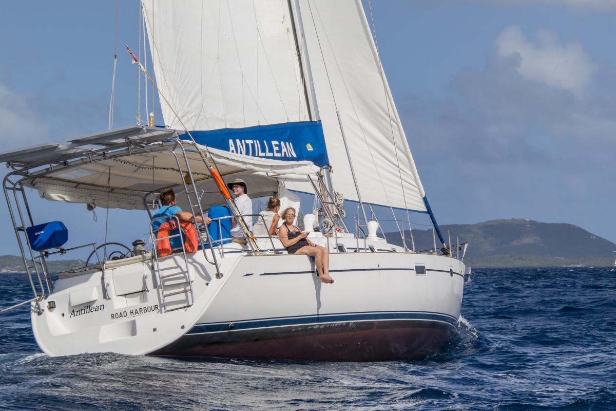 Antillean under sail