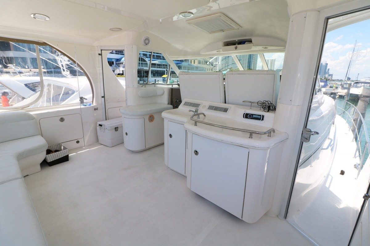 Comfortable roomy aft deck